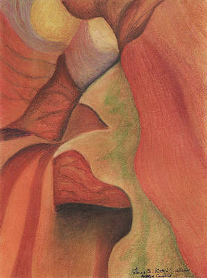 Pastel - Antelope Canyon 2 by Anne Katzeff