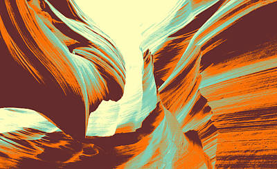 Antelopes Painting - Antelope Canyon by Asar Studios