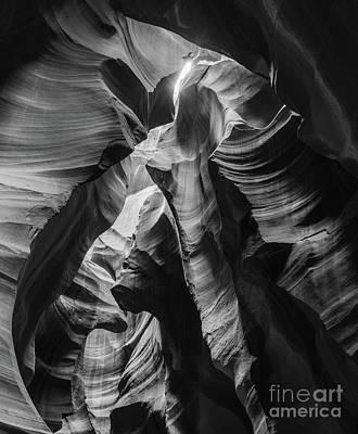 Antelope Canyon In Bw Art Print