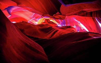 Photograph - Antelope Canyon by Lev Kaytsner