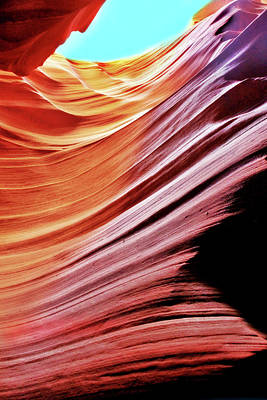 Photograph - Antelope Canyon by Lorella Schoales