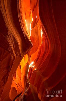 Photograph - Antelope Canyon Wavy Abstract by Adam Jewell