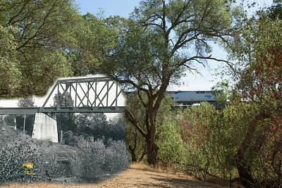 Photograph - Antelope Creek Railroad Bridge - Then And Now by Jim Thompson