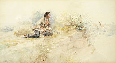 Navajo Painting - Antelope Hunt by Celestial Images