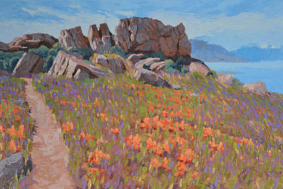 Painting - Antelope Island Outcrop by Stephen Bartholomew