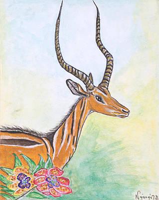 Kenyan Painting - Antelope by Ken Nganga
