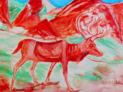 Painting - Antelope Save by Stanley Morganstein