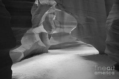 Photograph - Antelope Slot Canyon Black And White by Adam Jewell