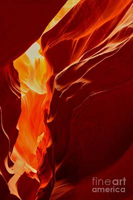 Photograph - Antelope Textures And Flames by Adam Jewell