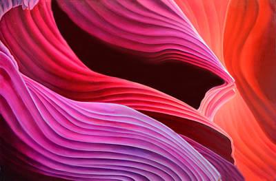 Antelope Waves Art Print by Anni Adkins