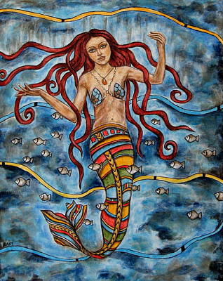 Rain Ririn Painting - Anthea by Rain Ririn