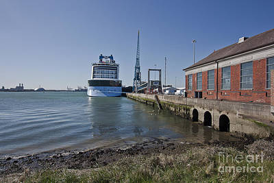 Photograph - Anthem Of The Seas Docked In Southampton by Terri Waters