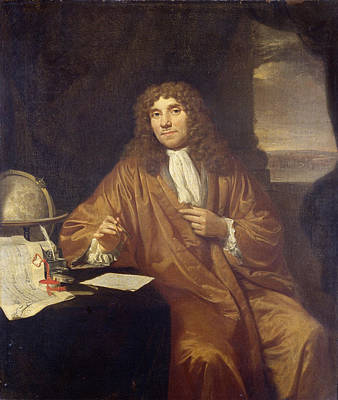 Painting - Anthonie Van Leeuwenhoek by Jan Verkolje