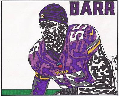 Drawing - Anthony Barr  by Jeremiah Colley