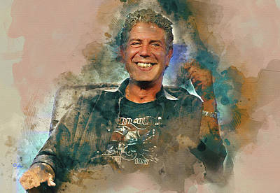 Photograph - Anthony Bourdain 3 by Paulette B Wright