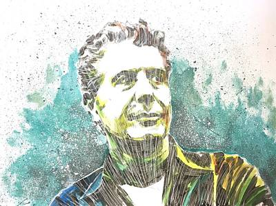 Painting - Anthony Bourdain by Joel Tesch