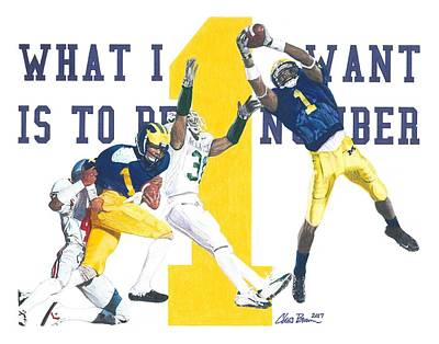 Drawing - Anthony Carter And Braylon Edwards, #1 by Chris Brown