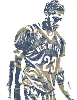 Pelican Mixed Media - Anthony Davis New Orleans Pelicans Pixel Art 11 by Joe Hamilton