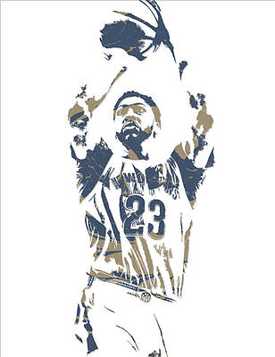 Pelican Mixed Media - Anthony Davis New Orleans Pelicans Pixel Art 13 by Joe Hamilton