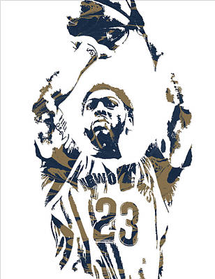 Pelican Mixed Media - Anthony Davis New Orleans Pelicans Pixel Art 7 by Joe Hamilton