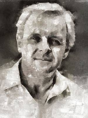 Anthony Hopkins Painting - Anthony Hopkins, Actor by Mary Bassett