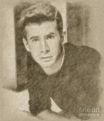 Fantasy Drawings - Anthony Perkins, Actor by Frank Falcon