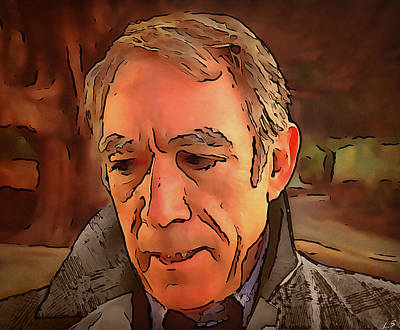 Quinn Painting - Anthony Quinn by Sergey Lukashin