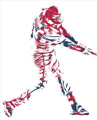 Mixed Media - Anthony Rendon Washington Nationals Pixel Art 1 by Joe Hamilton