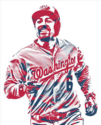 Mixed Media - Anthony Rendon Washington Nationals Pixel Art 2 by Joe Hamilton