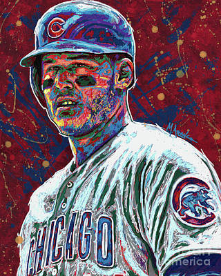 Anthony Rizzo Art Print by Maria Arango