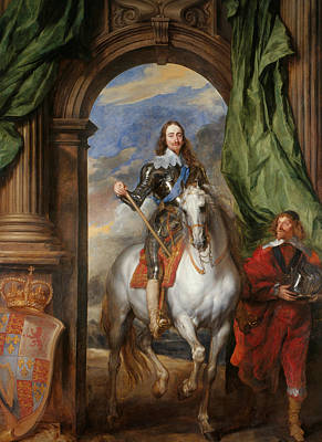 Anthony Van Dyck - Charles I With M. De St Antoine Art Print by Anthony van Dyck