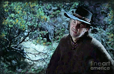 Rooster Cogburn Digital Art - Anthony Zerbe In Rooster Cogburn by J Marielle