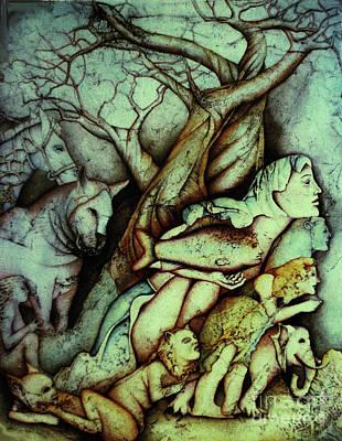 Wall Art - Painting - Anthropomorphic Kingdom by Carole Lindberg