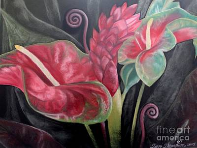 Painting - Anthurium And Ginger Still Life by Terri Thompson