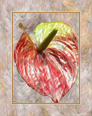 Mixed Media - Anthurium Design by Rosalie Scanlon