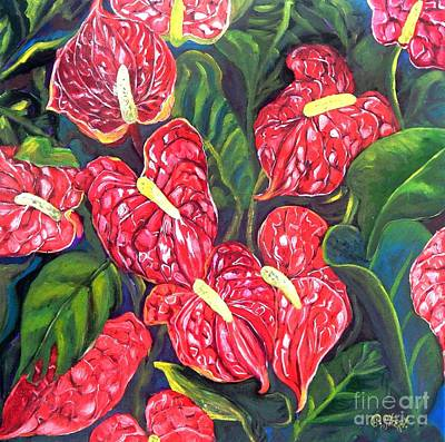 Anthurium Flowers Art Print