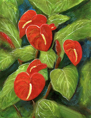 Anthurium Flowers #231 Art Print by Donald k Hall