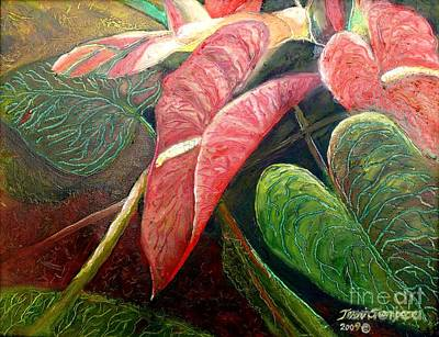 Painting - Anthuriums And Ginger by Terri Thompson