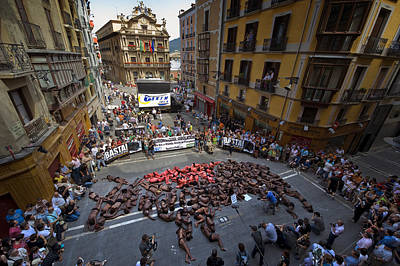 Corrida Photograph - Anti Bullfighting Protest by Rafa Rivas