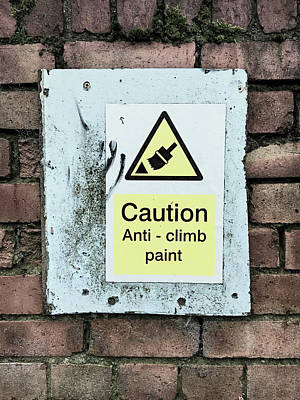 Anti-climb Paint Warning Art Print