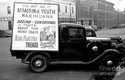 Photograph - Anti Marihuana Propaganda Truck 1935 by Peter Gumaer Ogden Collection
