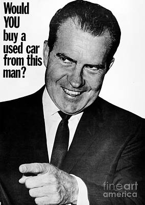 Photograph - Anti-nixon Poster, 1960 by Granger