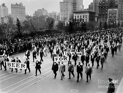 Sloppy Joes Bar Photograph - Anti Prohibition Rally 1933 by Jon Neidert