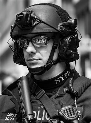 Police Officer Photograph - Anti Terorism Police Officer by Robert Ullmann
