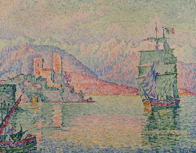Painting - Antibes Evening by Paul Signac