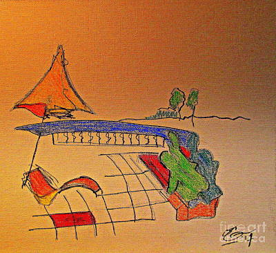 Provence Drawing - Antibes Morning by Bill OConnor