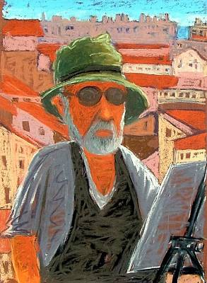 Artist Self Portrait Painting - Antibes Self by Gary Coleman