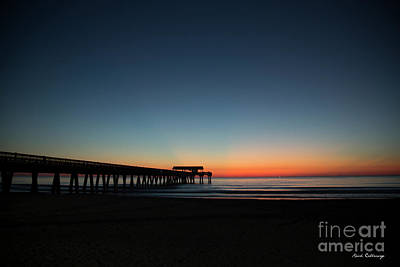 Photograph - Anticipation Before The Dawn Tybee Pier Sunrise Art by Reid Callaway
