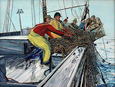 Painting - Anticipation Of The Catch by Laurence Dahlmer
