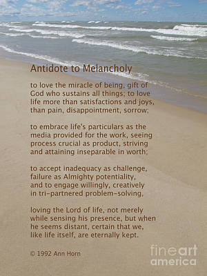 Photograph - Antidote To Melancholy by Ann Horn